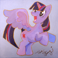 Twilight Painting by BrownWolfFM