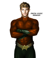 Aquaman Render by Grimmby