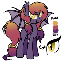 Auction: Evening bat pony *CLOSED* by HoofSplatter