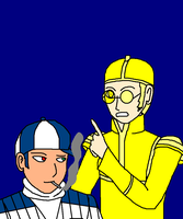 R2D2 and C3PO as humans by Kaiju-Borru-Zetto