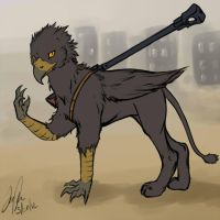 Ashred the griffin by KibugamiKenzo