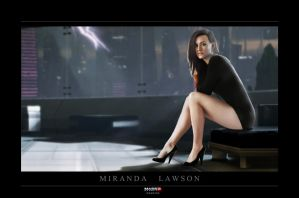 Miranda Lawson Lithograph by oomnine