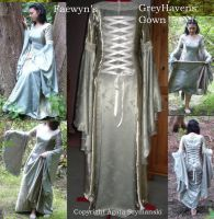 Faewyn Grey Havens Gown by PrincessFae