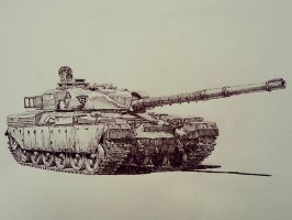 UK tank FV-4201 (black ball pen ) by lhlclllx97