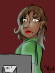 Taylor staring at screen thing by Queen-Raven-And-Crow