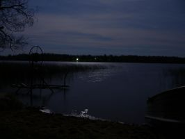 Nighttime Lake by CrazypersonA4