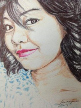 my neice By Mishi Art-d8iuy5b by mishi-art