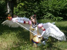 Eternal S.Moon CP with staff by Janet-Asuka