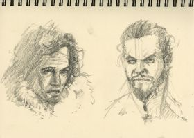 Game of Thrones Sketches by dougdabbs
