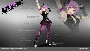 Ayane Emo Punk Rocker by EnlightendShadow
