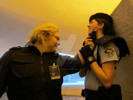 Let go of me Wesker! by LaceyAlaynna