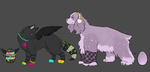 #s 1 and 2 Rave and Purple Sparkle Eggs- Hatched! by Xecax