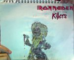 Eddie#2 + I.Maiden:Killers logo drawing(Unflipped) by TannMann64