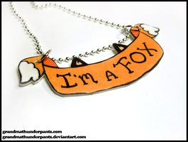 I'm a Fox Necklace by GrandmaThunderpants