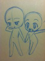 Chibi couple base by SWAG-Daddy