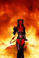 The Demoness Beckons by shaunapallas