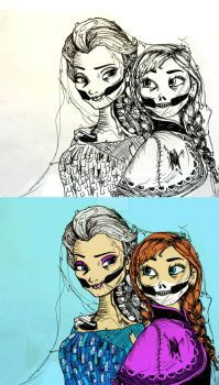 Elsa And Anna Dead Double by depp800