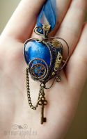 Steampunk heart with a key by ukapala