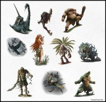 Southland Bestiary - Monsters by SHAWCJ
