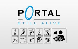 Portal Still Alive Icons Light by Zeptozephyr