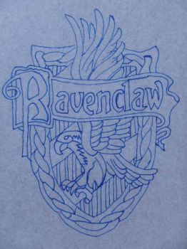 Ravenclaw crest pattern by CrossStitchedHeritic