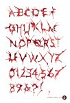 HemoGoblin Blood Spatter Typeface by amadeus-love