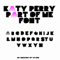 Part Of Me Font by GnaroKS