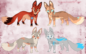 Tribal fox adoptables auction by TaraviAdopts