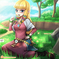 Skyward Sword Zelda by luminaura
