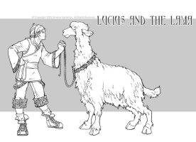 lucius and the lama by DawnElaineDarkwood
