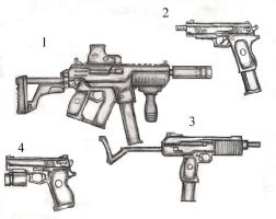 Fictional Guns by 1Bullet2Kills