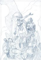 JLA BEYOND (pencils) by Mogorron