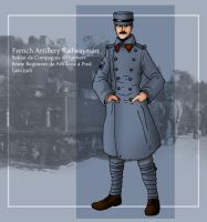 French Artillery Railwayman 1 by SimonLMoore