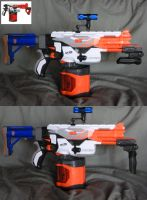 Custom Nerf Pyragon - Folding Foregrip by MarcWF