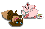 PMD: Check up with nurse chansey by Chaos55t