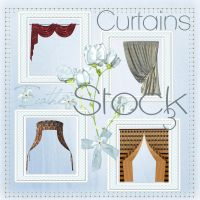 Curtains 03 stock pack by Ecathe
