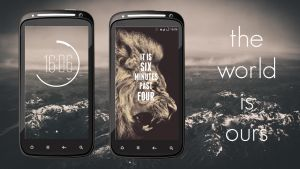 The World Is Ours - Android Homescreen/Lockscreen by schtocker