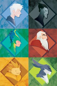 Busts of the Guardians by erinwitzel