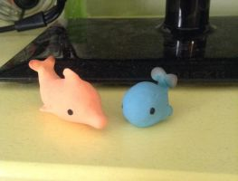 Clay whale and dophin. by Cdinorawr