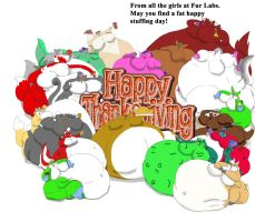 Happy Thanksgiving SuperSized 2011 by sakenskunk