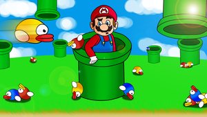 mario meets flappy bird by FreddieLaBella