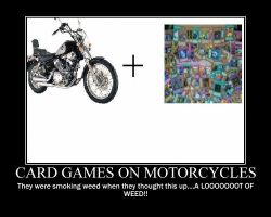 Card Games on Motorcycles by Samuraicore