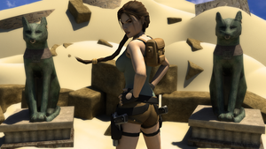 Lara in the desert by James--C