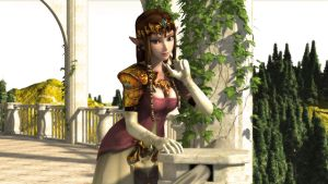 Zelda on the Veranda III by DarklordIIID