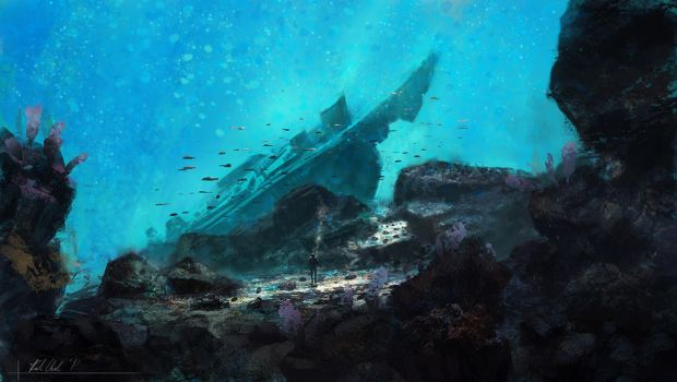 Themed Paintings- Under the Sea by k04sk