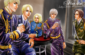 APH_UN Five in uniforms by alexzoe