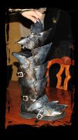 orc leather armor leg protection by Lagueuse