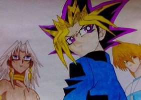 Marik,Yami Yugi and Joey by Marik-fan