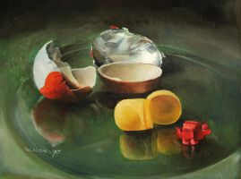 Kinder surprise egg - still life by roni-yoffe