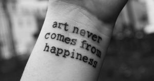 Art never comes from happiness by MinglPassion